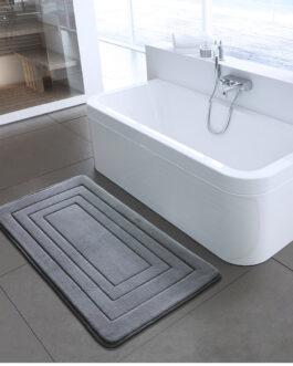 Coral Velvet Non Slip Bathroom Carpet Soft High Quality Floor Mat For Bedroom Microfibre Sponge Rug